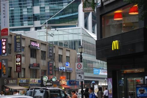 Straatbeeld in Seoul