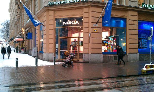 Nokia-winkel in het centrum van Helsinki. (Foto Peter Teffer)