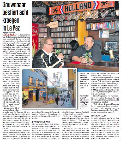 Klik voor PDF van het interview met twee Nederlandse ondernemers in La Paz.