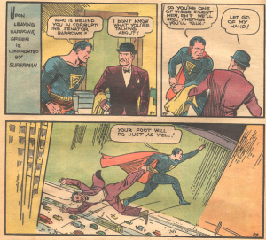 De hardhandige interviewtechniek van Clark Kent in Action Comics 1.