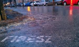 Fidesz street graffiti.