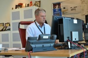 Troels Oerting in zijn kantoor in Den Haag. (Foto Peter Teffer)